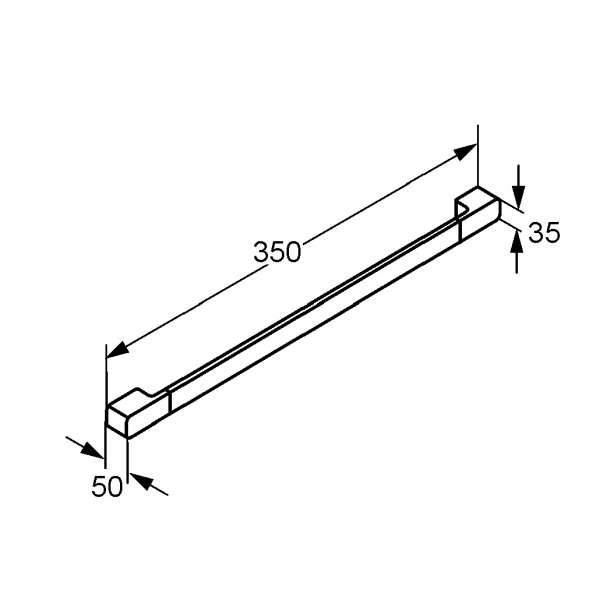 Rysunek techniczny wieszaka na ręcznik Kludi E2 4998105-image_Kludi_4998105_3