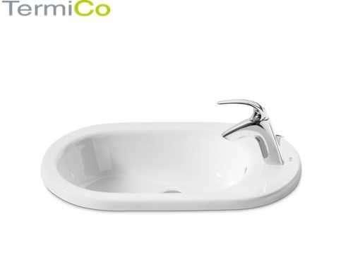 Ceramiczna umywalka wpuszczana w blat Roca Meridian 32724e000-image_Roca_A32724E000_3