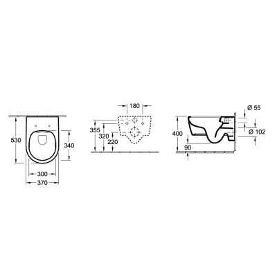 Wymiary techniczne miski Avento 5656HR01-image_Villeroy&Boch_5656HR01_4