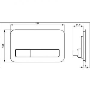 Dane techniczne guzika Villeroy & Boch ViConnect 921843RB -image_Villeroy & Boch_921843RB_2