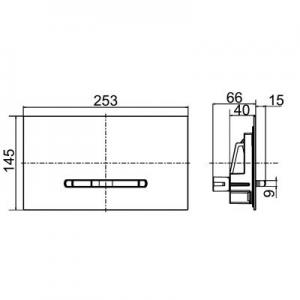 Schemat techniczny przycisku Villeroy & Boch ViConnect M300 922160RB-image_Villeroy & Boch_922160RB_2