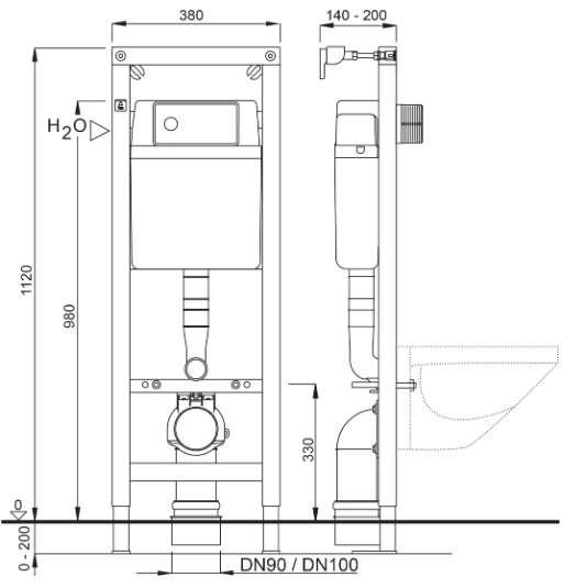Dane techniczne stelaża podtynkowego Schwab 4060453004 -image_Hansa_58330101_1