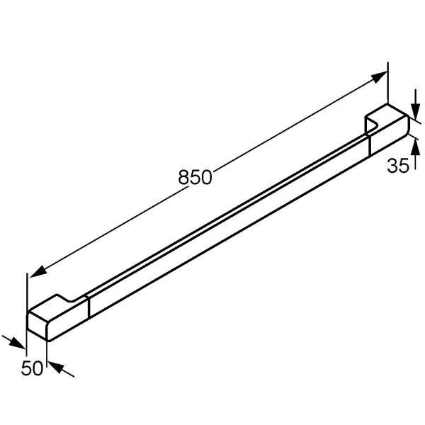 Rysunek techniczny wieszaka na ręcznik Kludi E2 4997905-image_Kludi_4997905_3