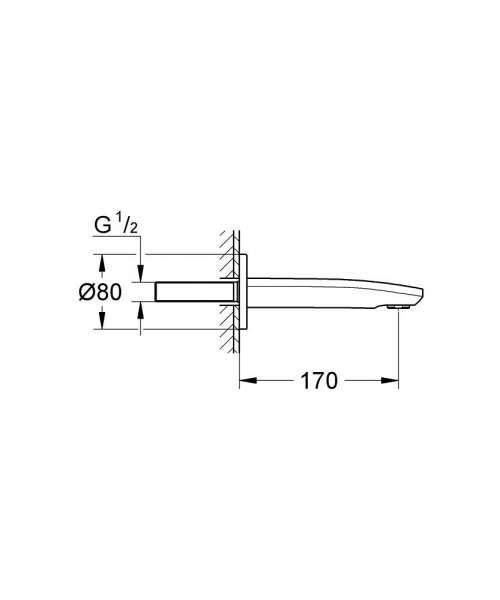 Wymiary techniczne baterii wannowej Grohe Eurostyle Cosmopolitan 13276002-image_Grohe_13276002_4