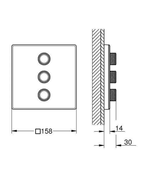 wymiary techniczne zaworu odcinajacego grohe smartcontrol 29158LS0-image_Grohe_29158LS0_3