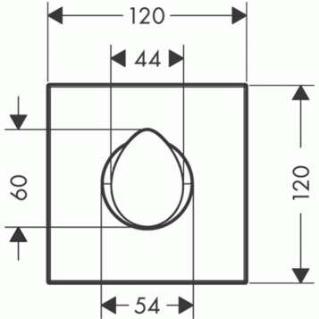 Wymiary techniczne zaworu odciajacego Hansgrohe Axor Strack Organic 12771000-image_Hansgrohe_12771000_3
