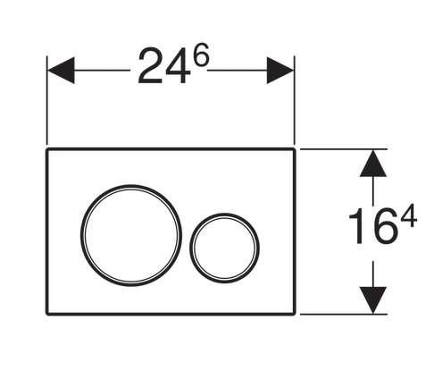 Rysunek techniczny przycisku spłukującego Geberit Sigma 30 -image_Geberit_UP320/LIFE/S30KJ_3