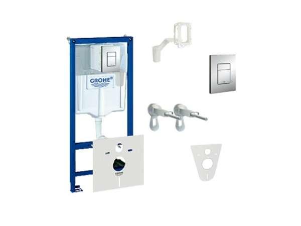 Pakiet podtynkowy do wc 5w1 - stelaż podtynkowy Grohe Rapid, wsporniki montażowe, przekładka, kostkarka i przycisk.-image_Grohe_38827000_5