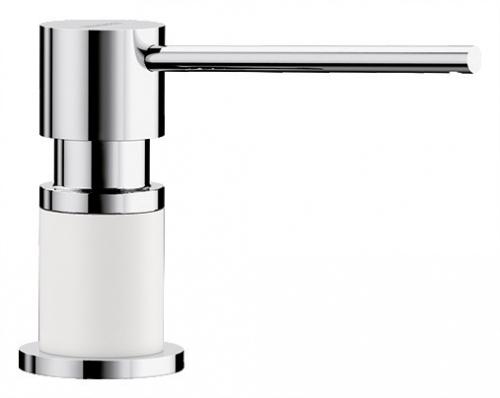 Kuchenny dozownik do płynu lub mydła Blanco Lato 525814 w wersji biały/chrom