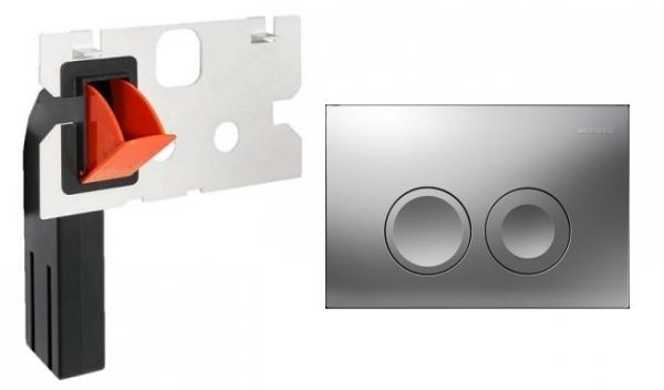 Geberit Delta 21 przycisk spłukujący do wc kolorze matowym w zestawie z kostkarką.-image_Geberit_115125461_1
