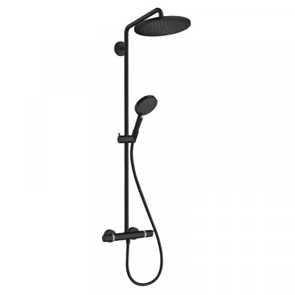 Czarna termostatyczna natynkowa kolumna prysznicowa Shower Select 280-image_Hansgrohe_26891670_1