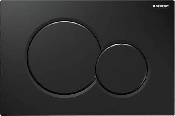 Przycisk Geberit Sigma 01 z okrągłymi przyciskami w kolorze czarnym 115.770.dw.5. Wykonany z tworzywa, zastosowanie do stelaża UP320-image_Geberit_115.770.DW.5_1