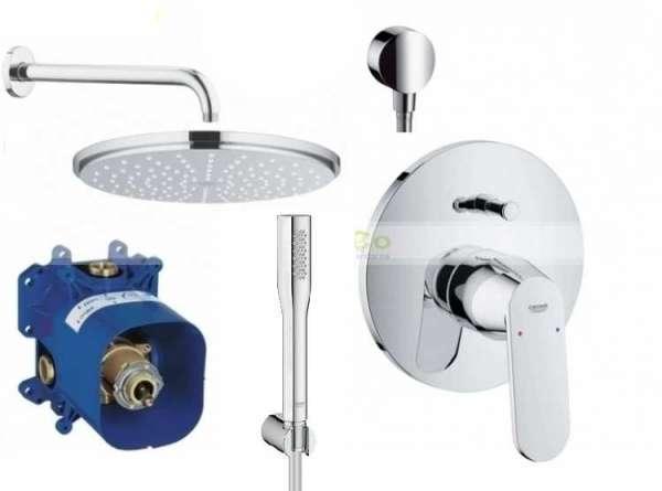 Kompletny zestaw podtynkowy do prysznica Grohe Eurosmart Cosmopolitan, zestaw z dużą deszczownicą 210mm.-image_Grohe_GR/ECOSMO/210_1