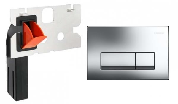 Geberit Delta 51 przycisk spłukujący do wc kolorze błyszczącym w zestawie z kostkarką.-image_Geberit__1