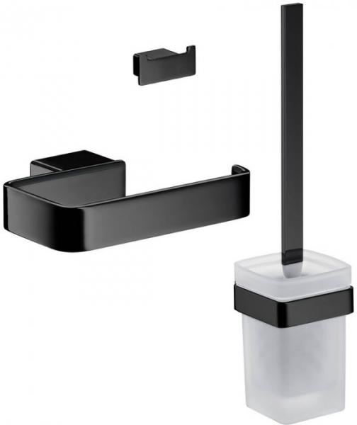 Jeden z najpopularniejszych zestawów akcesorii łazienkowych w kolorze czarnym marki Emco
