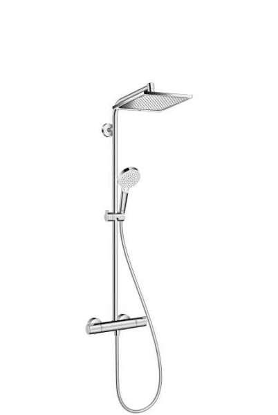 Hansgrohe Showerpipe Crometta E240 27281000 natynkowy komplet prysznicowy z baterią termostatyczną.-image_Hansgrohe_27281000_1