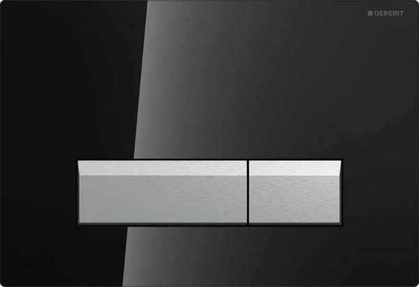Przycisk spłukujący z wbudowanym filtrem węglowym Geberit Sigma40 115.600.SJ.1 w wersji czarne szkło do spłuczek Geberita z odciągiem bocznym.-image_Geberit_115.600.SJ.1_1