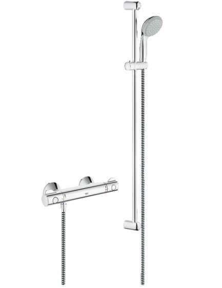 Termostatyczny zestaw prysznicowy - natynkowy Grohe Grohtherm 800 34566001.-image_Grohe_34566001_1