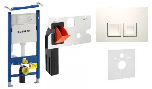 Geberit Duofix Basic w zestawie z przyciskiem Delta 50 w kolorze białym oraz kostkarka higieniczną.-image_Geberit__1