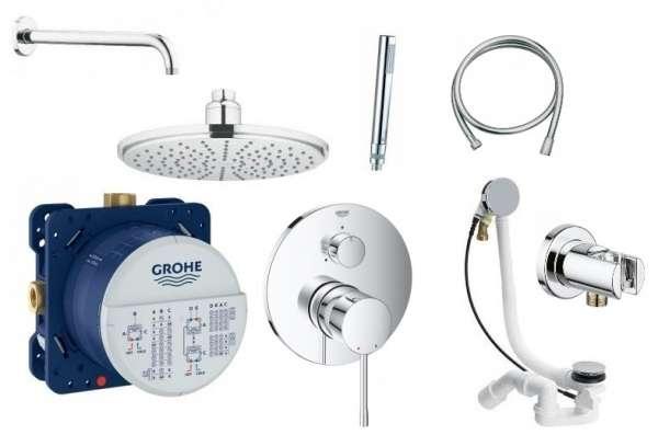 Grohe Essence kompletny zestaw podtynkowy do obsługi trzech odbiorników-image_Grohe_356000_1
