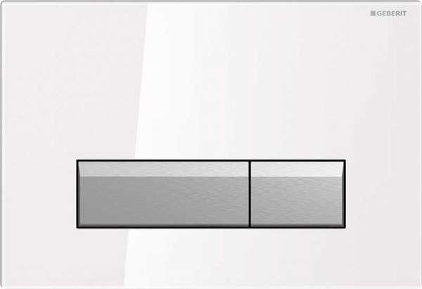 Geberit Sigma 40 szkło białe przycisk spłukujacy do wc z odciagiem bocznym 115.600.SI.1-image_Geberit_115.600.SI.1_1