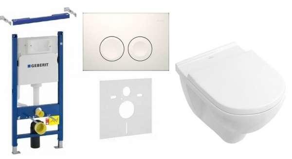 Zestaw podtynkowy stelaż do wc Geberit Duofix Basic z białym przyciskim, przekładką akustyczna i miską toaletową Villeroy&Boch Onovo-image_Villeroy&Boch_GD21/onovo/W_1