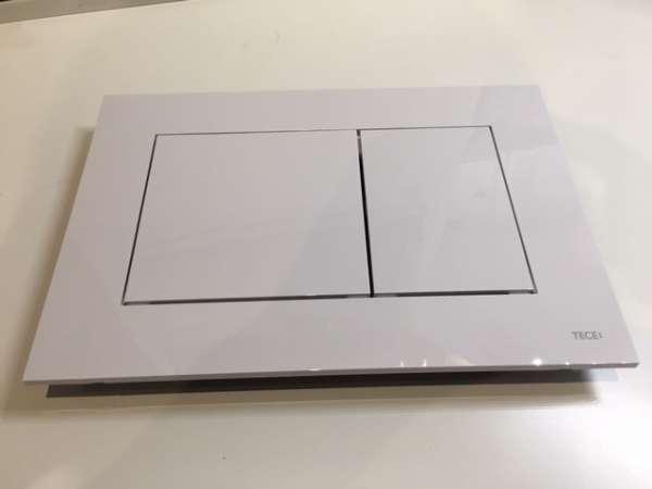 Tece Now plastikowy przycisk spłukujący biały 9.240.400 dedykowany do spłuczek podtynkowych marki Tece. -image_Tece_9.240.400_1