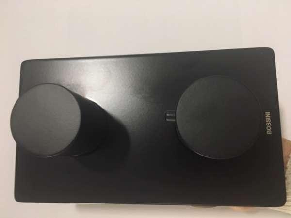 Podtynkowa bateria termostatyczna - wannowa Bossini Black w wersji czarny mat-image_Bossini_Z00002+Z00101_1