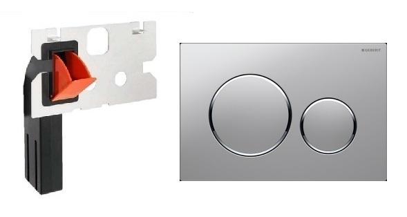 Geberit przycisk Sigma 20 w kolorze chrom mat z pojemnikiem na kostki higieniczne.-image_Geberit + HomeMade__1