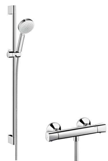 Termostatyczny zestaw prysznicowy z drążkiem L-900 -image_Hansgrohe_27031400_1