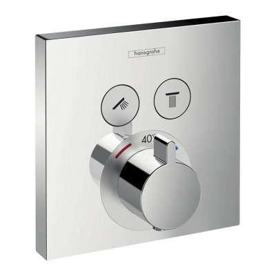 Termostat podtynkowy do obsługi 2 odbiorników Hansgrohe Showerselect 15763000. Element zewnetrzny do kompletowania z I-boxem-image_Hansgrohe_15763000_1