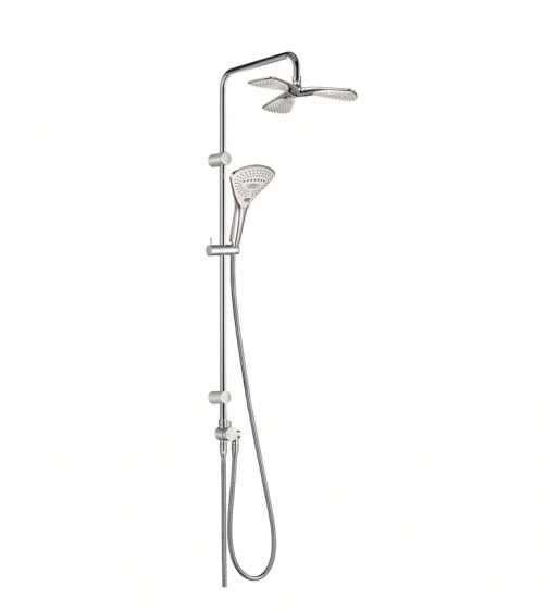 Natynkowy system prysznicowy deszczownica + słuchawka Fizz 6709305-00-image_Kludi_670930500_1