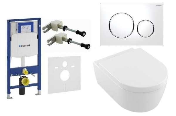Pakiet podtynkowy do wc - stelaż Geberit UP320 wraz z miską Villeroy&Boch Aveno+przycisk spłukujący Sigma 20 biała