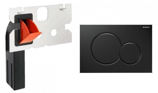 Geberit Sigma 01 przycisk do wc w kolorze czarny połysk z pojemnikiem na kostki higieniczne.-image_Geberit + HomeMade__1