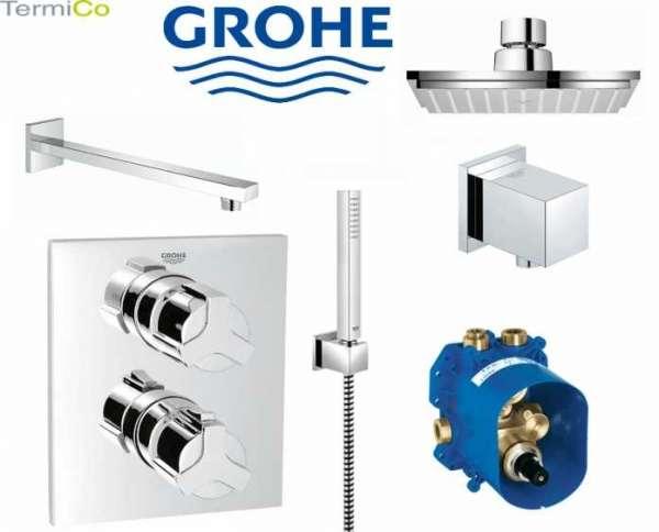 Kompletny termostatyczny zestaw podtynkowy pod prysznic Grohe Allure z deszczownicą 150.-image_Grohe_GR/ALLURE/EUPHORIA CUBE_1