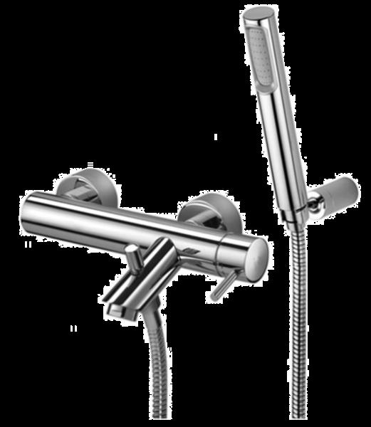 Zestaw bateria wannowa  z kompletem prysznicowym Paffoni Light LIG023CR